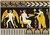 Античный этрусский мифический декоративный дизайн | Векторный клипарт