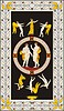 Antikes etruskisches mythologisches dekoratives Muster | Stock Vektrografik