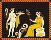古代伊特鲁里亚神话装饰设计 | 向量插图