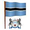 Botswana wellig Flagge