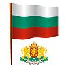 Bulgarien wellig Flagge