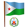 Dschibuti wellig Flagge