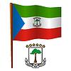 Äquatorialguinea wellig Flagge