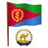 Eritrea wellig Flagge