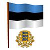Estland wellig Flagge