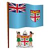Fidschi wellig Flagge
