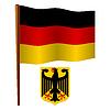 Deutschland wellig Flagge