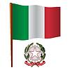 italien wellig Flagge