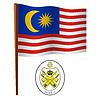 malaysia wellig Flagge