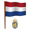 Niederlande wellig Flagge