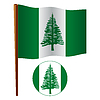 Norfolkinsel wellig Flagge