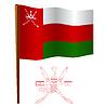 oman wellig Flagge