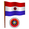 paraguay wellig Flagge