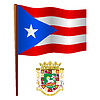 Puerto Rico wellig Flagge