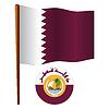 Katar wellig Flagge