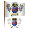 Saint Barthelemy wellig Flagge