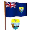 St. Helena wellig Flagge