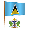 St. Lucia wellig Flagge