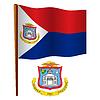 saint martin wellig Flagge