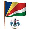 Seychellen wellig Flagge
