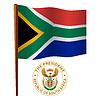 Südafrika wellig Flagge