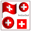switzerland graphic set
