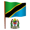 Tansania wellig Flagge