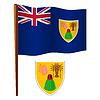 Turks-und Caicosinseln wellig Flagge