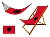 Albanien Hängematte und Liegestuhl-Set