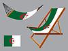 Algerien Hängematte und Liegestuhl-Set