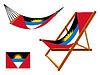 Antigua und Barbuda Hängematte und Liegestuhl-Set