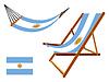 Argentinien Hängematte und Liegestuhl-Set