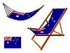australien Hängematte und Liegestuhl Set