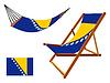 Bosnien und Herzegowina Hängematte und Liegestuhl-Set