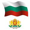 Bulgarien wellig Flagge und Wappen