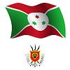 Burundi wellig Flagge und Wappen