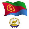 Eritrea wellig Flagge und Wappen