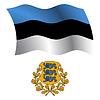 Estland wellig Flagge und Wappen