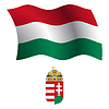 ungarn wellig Flagge und Wappen