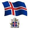 island wellig Flagge und Wappen