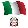italien wellig Flagge und Wappen