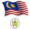 malaysia wellig Flagge und Wappen