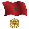 Marokko wellig Flagge und Wappen