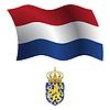 Niederlande wellig Flagge und Wappen