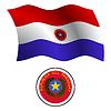 paraguay wellig Flagge und Wappen