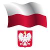 polen wellig Flagge und Wappen