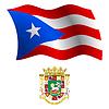 Puerto Rico wellig Flagge und Wappen