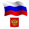 russland wellig Flagge und Wappen