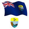 St. Helena wellig Flagge und Wappen