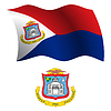 saint martin wellig Flagge und Wappen